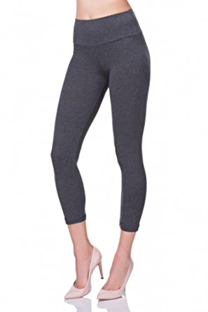 185096203b8a22 Oh! Pretty 3/4 Length Leggings | Womens Cropped Leggings | Ladies Capri  Leggings | Short Stretch Leggings | High Waisted Active Biker Leggings |  Multiple ...
