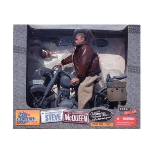 "12"" WWII Steve McQueen with German Motorcycle The Great Esca"