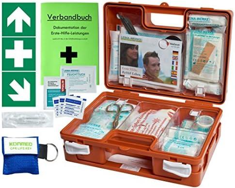 """Erste-Hilfe-Koffer Quick -Paket 1- mit""""Notfallbeatmungshilfe"""" für Betriebe DIN/EN 13157 + DIN 13164 für KFZ - incl. 1. Hilfe Folienaufkleber"""