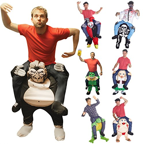 [Unisex Piggyback Gorilla Carry Me Costume - With Stuff Your Own Legs] (Funny Gorilla Costume)