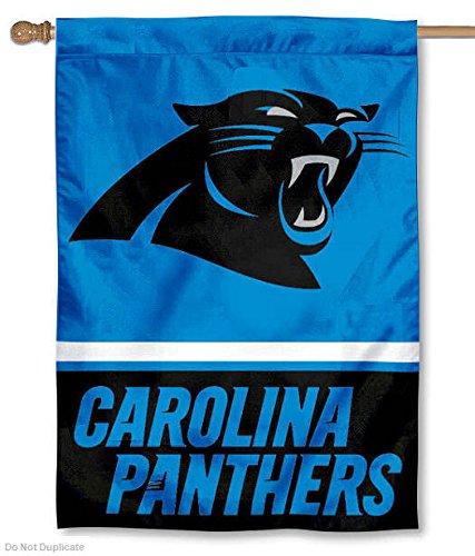 Carolina Panthers Two Sided House Flag (Carolina Panthers Flag)