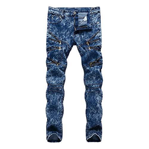 Fit Alti Jeans Slim Ssig Elastici Classiche Cotton Dritti Morbidi Pantaloni Fashion Da Ragazzi Colour Comodi Uomo xqSHX