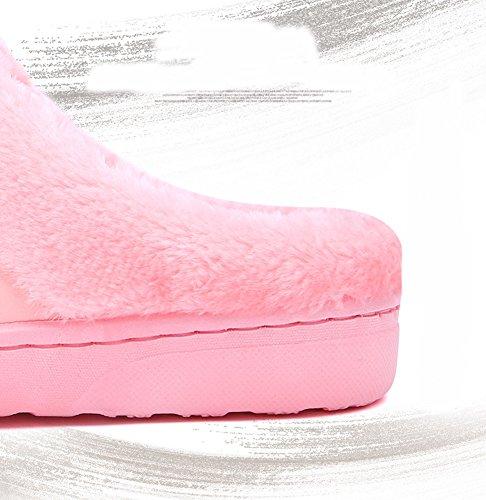 Pantoufles Femme Rose Et 1 Peluche Slippers Homme Insun Mules 4tqwBnd