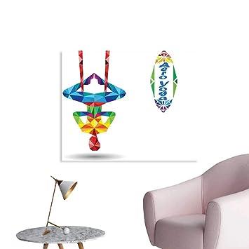 Amazon.com: Sanring Yoga Wall Sticker Decals Aerial Aero ...
