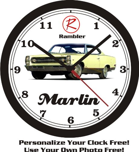 1967 RAMBLER MARLIN WALL CLOCK-FREE USA SHIP!