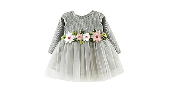 da346eb1caf9 Amazon.com  Girls Tutu Dresses Toddler Kids Baby Shirt Long Sleeve ...