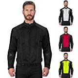 Viking Cycle Warlock Mesh Motorcycle Jacket for Men (Small, Black)