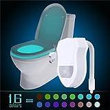 8 Color Toilet LED Light for Toilet Seat Human body Induction Motion Sensor Light