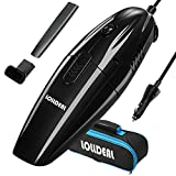 LOLLDEAL 2018 Upgraded Car Vacuum, 12V 75W Car Vacuum Cleaner Mini Portable Hand-held Auto Vacuums with Stronger Suction for Car with 14.8 FT(4.5M) Power Cord, Carrying Bag, HEPA Filter - Black