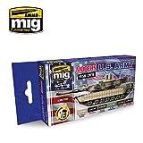 Ammo of Mig Jimenez Modern USA Army - Acrylic Colors Set 6 Jars 17ml #7159