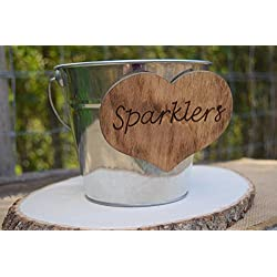 Wedding Sparklers Pail - Wedding Sparklers Buckets - Wedding Decor - Wedding Centerpiece - Wedding Bubbles