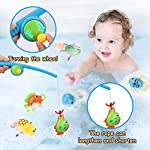 Baby Bath Toys, BBLIKE Fishing Toys Set with Swimming Bath toys for 18 Months+ Boys & Girls for Fishing Game at Bathtub…
