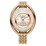 Swarovski Crystalline Oval Rose Gold Tone Bracelet Watch 5200341
