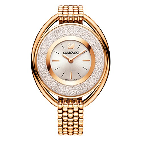 (Swarovski Crystalline Oval Rose Gold Tone Bracelet Watch 5200341)