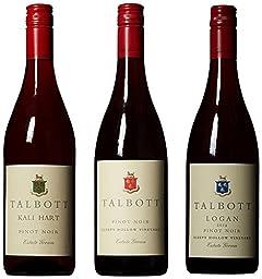 Talbott Single Vineyard Pinot Noir Red Wine Mixed Pack 3 x 750mL