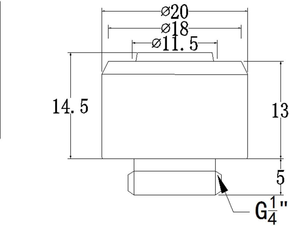 4 Pack Bykski Flex 10mm ID x 13mm OD Fitting Brite Nickel