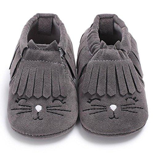 Babyschuhe, Sunnyyoyo Säugling sklein kind-neugeborenes Baby-Mädchen-Jungen-nette Karikatur-Quasten-weiche Aufladungs-Schuhe