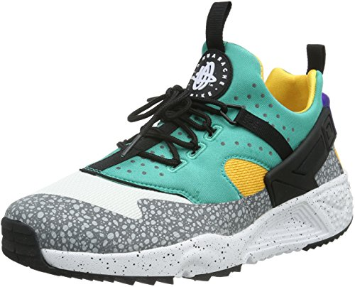 157ae0e1044d Galleon - Nike Mens Air Huarache Utility PRM White Black-Emerald Green  Fabric Size 11