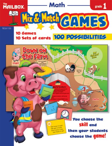Mix & Match Games: Math (Gr. 1) by The Mailbox Books Staff (2008) Paperback