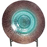 urban designs celestial collection 19 inch decorative glass bowl with stand - Decorative Glass Bowls