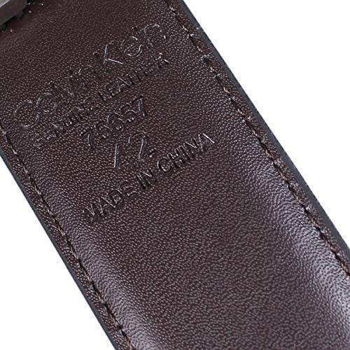 カルバンクライン ベルト レザーベルト 本革 リバーシブル 32MM REVERSIBLE BELT 75657 メンズ ブラック/ブラウン 42 (並行輸入品)