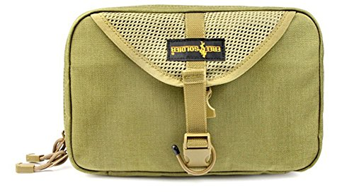 Free Soldier Travel Wash Bag/Portable Cosmetic Bag for Outdoor Travelling (Mud)
