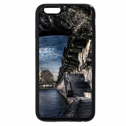 iPhone 6S / iPhone 6 Case (Black) superb view of the seine under a bridge hdr