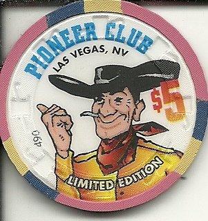 Amazon.com: $5 Pioneer Club Cowboy Cartel erigir 1951 Las ...