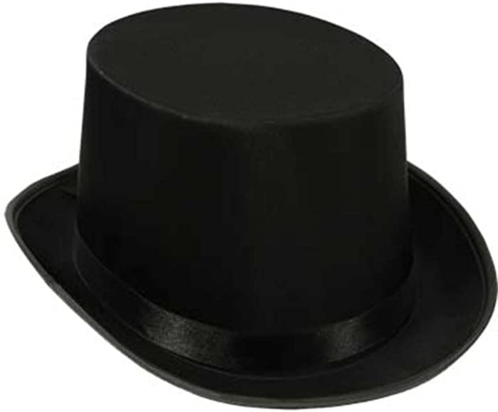 Super Z Outlet Black Top Hat Satin Costume Magician Fancy Style Party Accessory