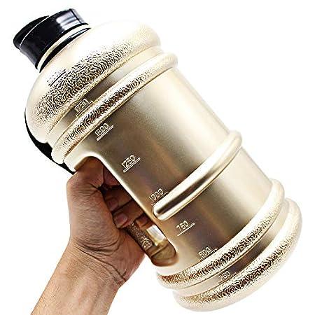 WJNGQJKXKIJ stainless steel cup Fitness sports big kettle_2.2 portable large fitness sports big kettle - new gold WJNGQJKXKIJ6