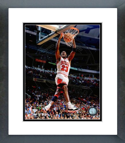 ad105575c917b Amazon.com : Michael Jordan 1996 Dunk Action Framed Picture 8x10 ...