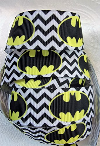 Grosgrain Ribbon **Batman Print** - 7/8