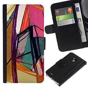 A-type Arte & diseño plástico duro Fundas Cover Cubre Hard Case Cover para iPhone 4 / 4S (Art Bright Colors Geometry)