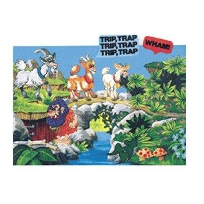 (Little Folk Visuals Billy Goats Gruff Precut Flannel/Felt Board Figures, 8 Pieces Set)