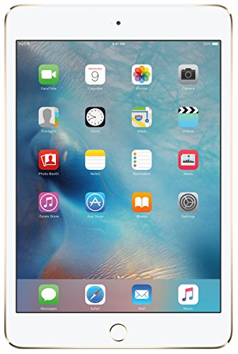 Apple iPad mini 4 (128GB, Wi-Fi + Cellular, Gold) (Certified Refurbished)
