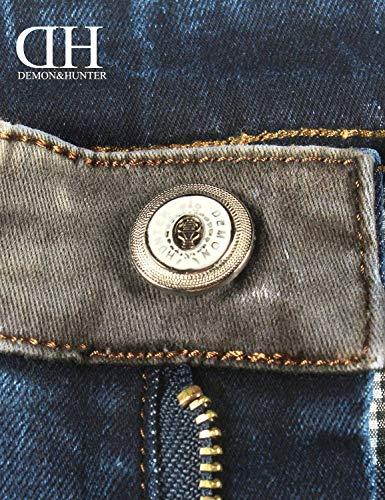Pantaloni A Uomo Blau Casual Qk Slim Gamba Denim Ragazzo Vintage Jeans Da lannister Dritta S7xqn1awU