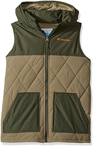 - Columbia Boys' Little Lookout Cabin Vest, Sage, Surplus Green Heather, Small