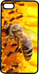 Honey Bee Stealing Nectar from Yellow Flowers Black Plastic Case for Apple iPhone 5 or iPhone 5s