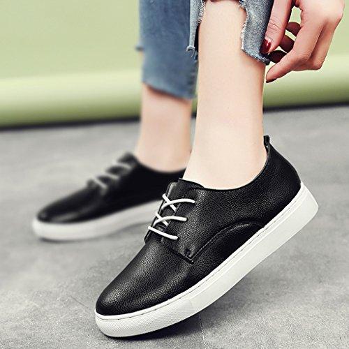 planos para Zapatos blancas estudiante de mujer blancos de Zapatos Tamaño mujer HWF Zapatos Mujeres 40 Zapatos de Casual Negro Color Pink primavera qPwA5dqO