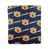 The Northwest Company NCAA Auburn Tigers Repeated Logo Fleece Throw, 50-inch by 60-inch