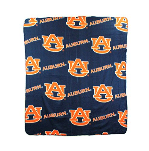 NCAA Auburn Tigers Repeated Logo Fleece Throw, 50-inch by 60-inch