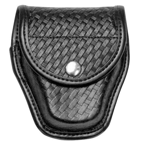 Bianchi AccuMold Elite 7900 Chrome Snap Covered Cuff Case (Basketweave Black, Size 1)