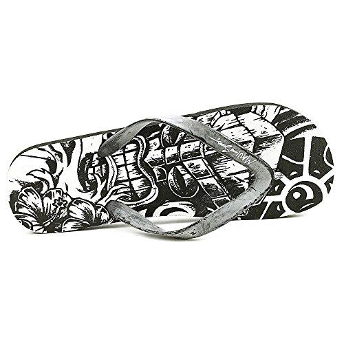 Maui & Sons Heren Grafische Slide-flip-flops Zwart-wit