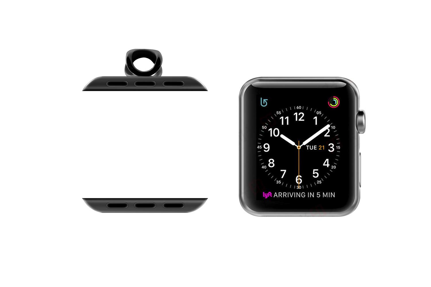 AsiaFly Necklace Pendant Compatible Apple Watch, Infinity & Double Loop Connector for Apple Watch Series 4, Series 3, Series 2, Series 1 Sport & Edition - Black 42/44mm Infinity by AsiaFly (Image #2)