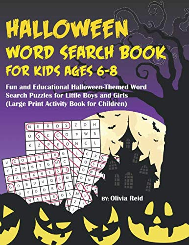 Fun Halloween Words (Halloween Word Search Book For Kids Ages 6-8: Fun and Educational Halloween-Themed Word Search Puzzle Games for Little Boys and Girls (Large Print Activity Book for)