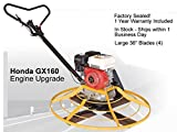 Power Trowel 36 Inch Honda GX160 Gas Engine 5.5HP Walk Behind 4 Blades 1 Year Parts Warranty