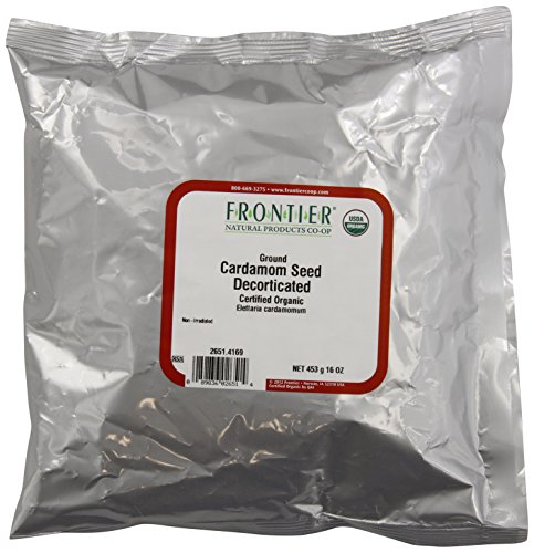 Frontier Cardamom Seed, Decorticated (no Pods), Powder Certified Organic, 16 Ounce -