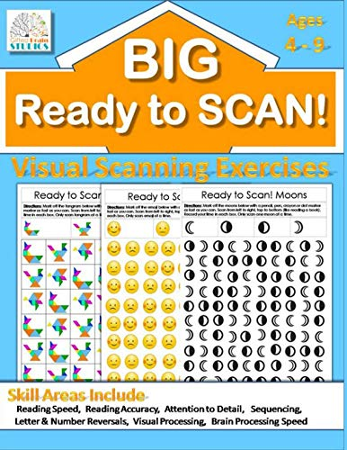 Ready to Scan! BIG BOOK: Beginners, Intermediate & Advanced Visual Scanning Exercises (Visual Tracking Exercises) ()