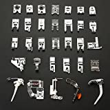 32pcs Domestic Sewing Machine Presser Foot Set For Janome Brother Singer Accessory