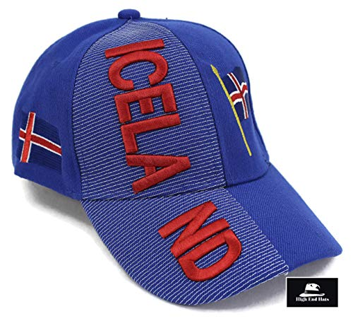 """8993ad5567c High End Hats """"Nations of Europe Hat Collection"""" 3D Embroidered Adjustable  Baseball Cap"""